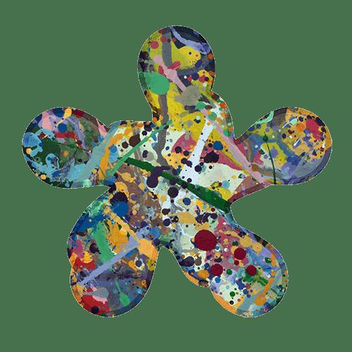 Bert Ernie Abstract Expressionist Painter Logo