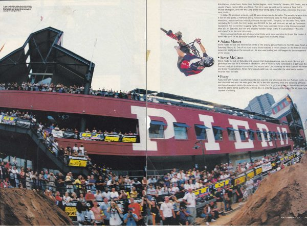 King of Dirt - Source photo - Ride BMX magazine - October 2000