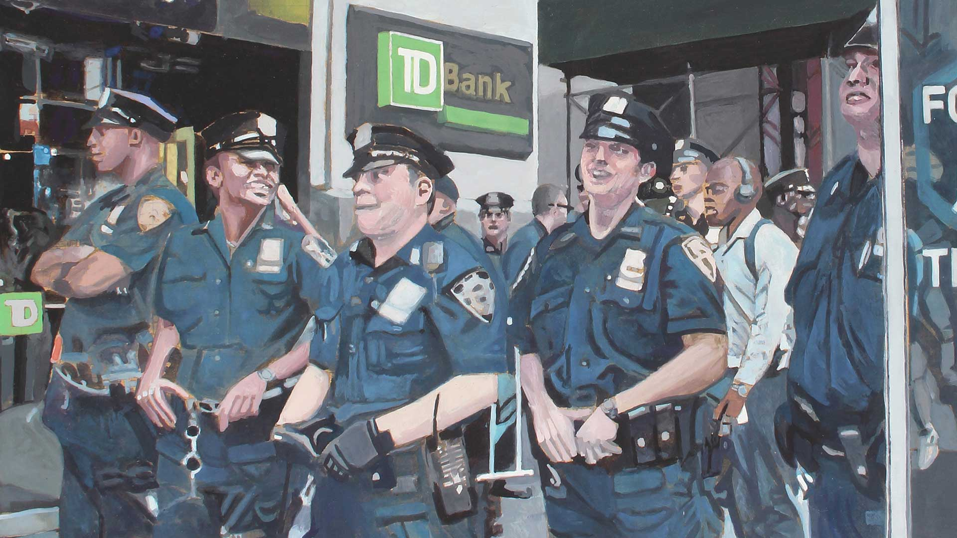 Photorealist painting - Byzantium Security - Detail 2