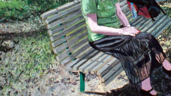 Photorealist painting - Carolyn 1 - Detail 1