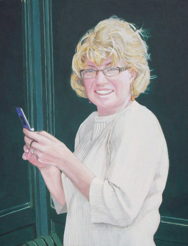 Photorealist painting - Carolyn 2