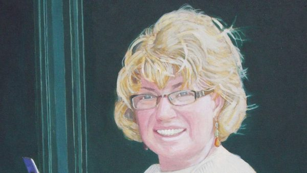 Photorealist painting - Carolyn 2 - Detail 1