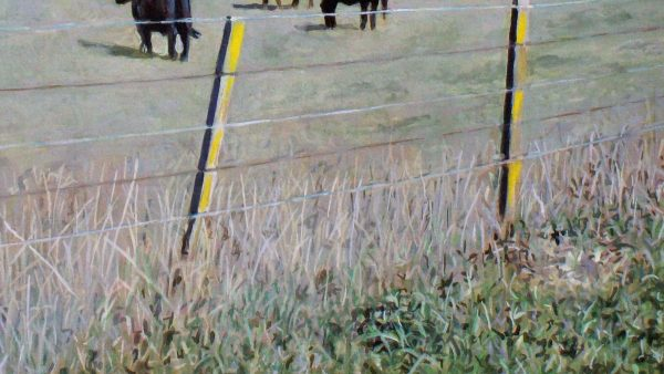Photorealist painting - Cows in a paddock at Yarra Glen - Detail 2