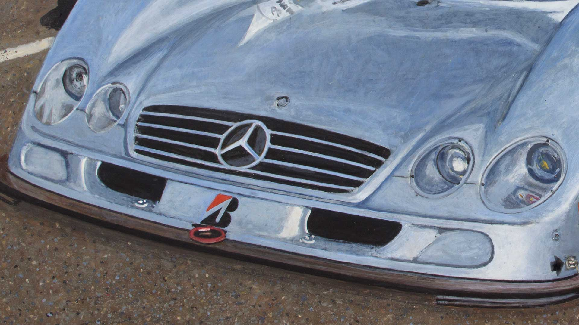 Photorealist painting - Fast, Beautiful, Dangerous - Detail 2