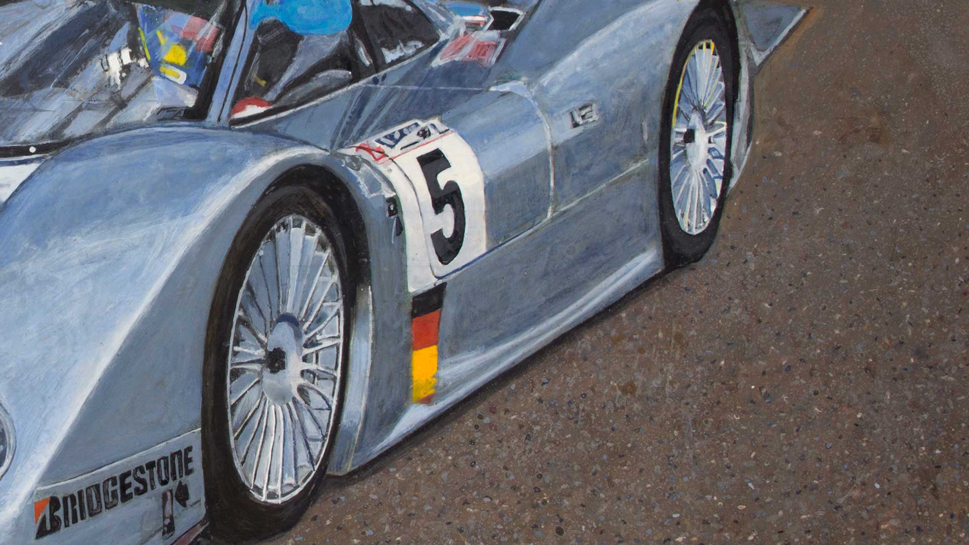 Photorealist painting - Fast, Beautiful, Dangerous - Detail 4