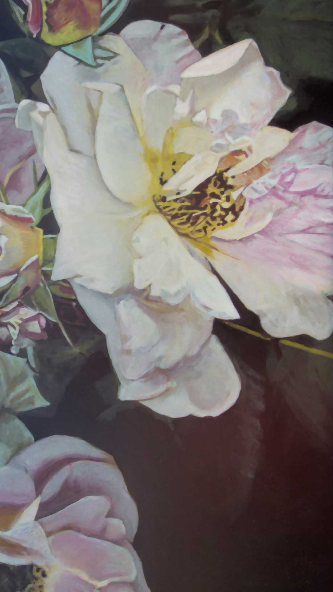 Photorealist painting - Flowers - Detail 2