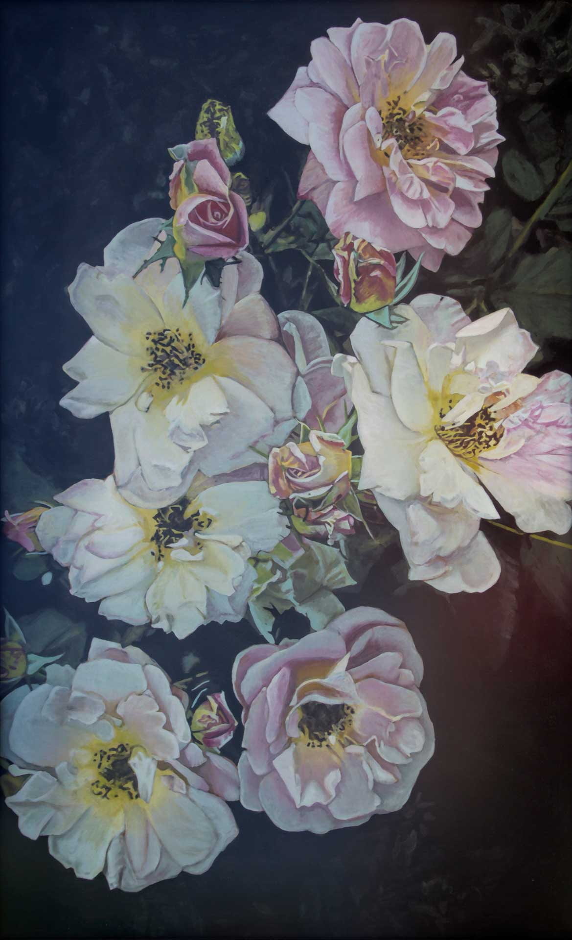 Photorealist painting - Flowers