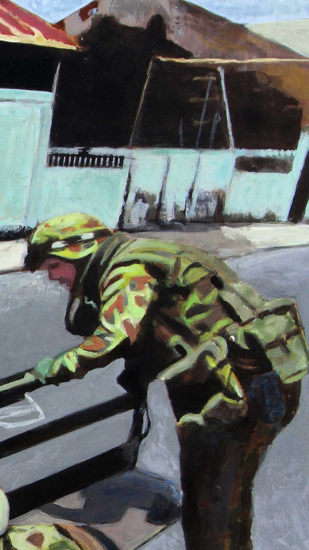 Photorealist painting - INTERFET - Detail 2