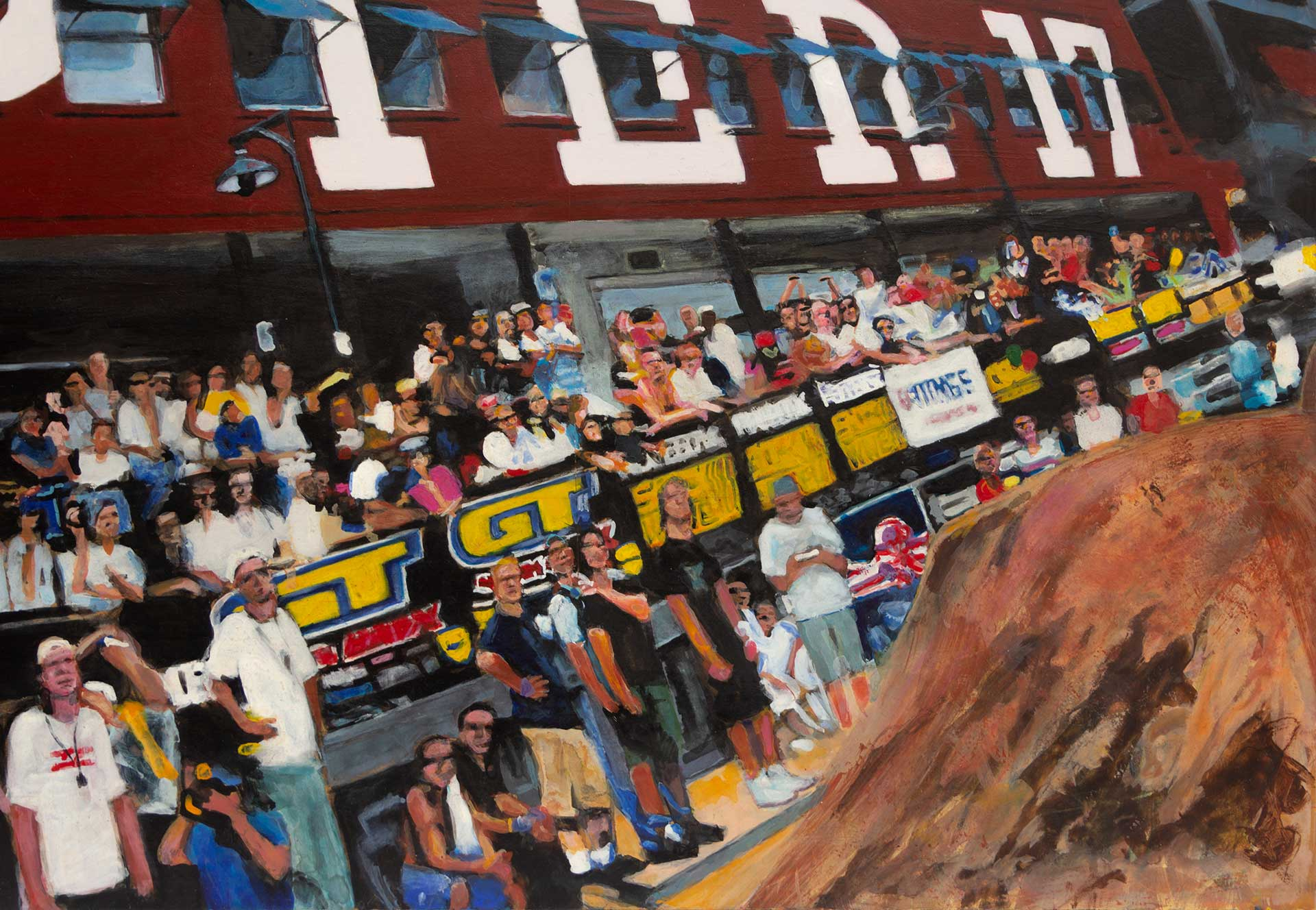 Photorealist painting - King of Dirt - Detail 4