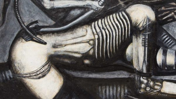 Photorealist painting - Necronom V - Detail 2