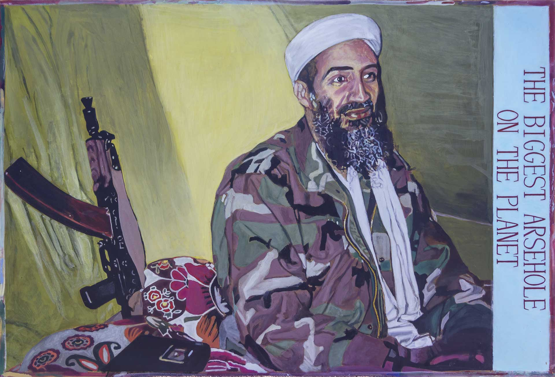 Photorealist painting - Osama - The Biggest Arsehole On The Planet