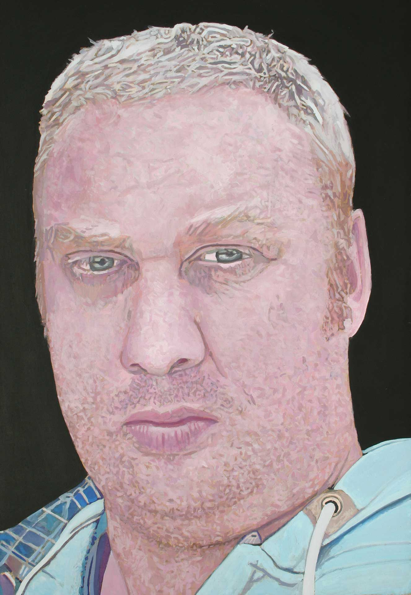 Photorealist painting - Self Portrait 2012