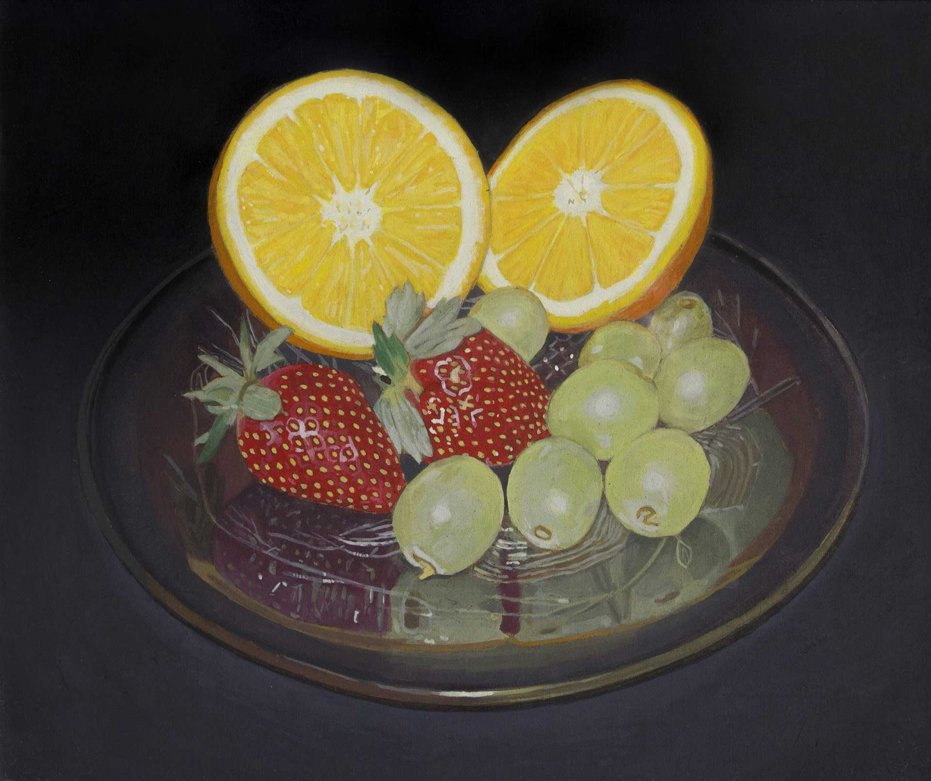 Photorealist painting - Still Life With Fruit