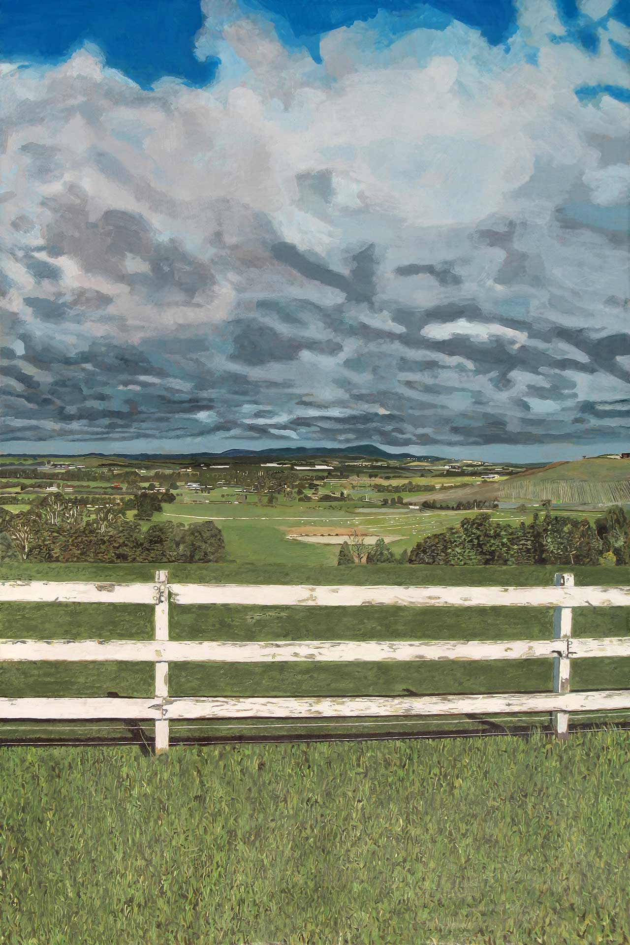 Photorealist painting - View of Yarra Glen