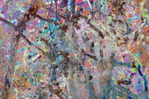 Abstract expressionism painting - Alien Landscape #1