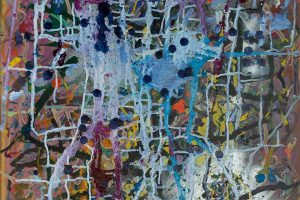 Abstract expressionism painting - Alien Landscape #2 - The power of idiots