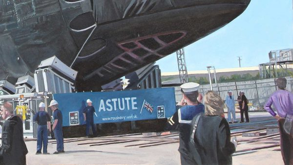 Photorealist painting - Astute 1 - Detail 1