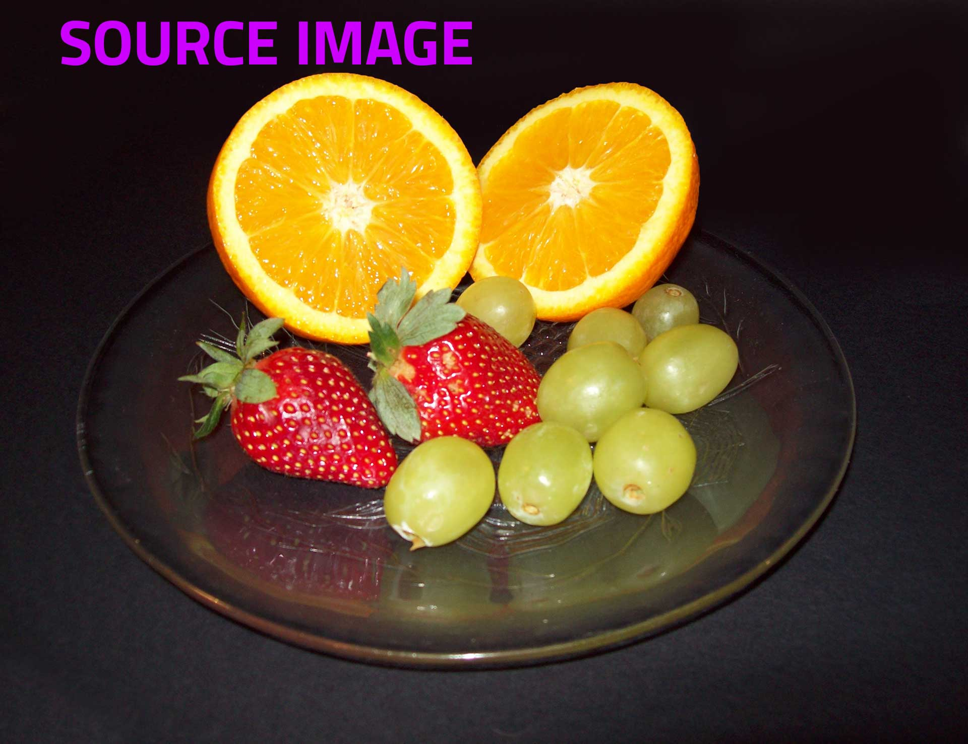 Photorealist painting - Still Life With Fruit - Source image