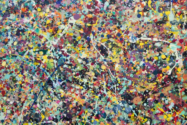Abstract painting - Celebrities at a party in Greensborough - Detail view 2