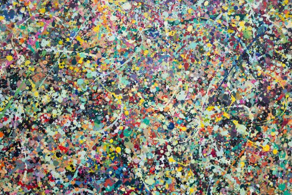 Abstract painting - Celebrities at a party in Greensborough - Detail view 3