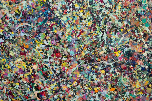 Abstract painting - Celebrities at a party in Greensborough - Detail view 4