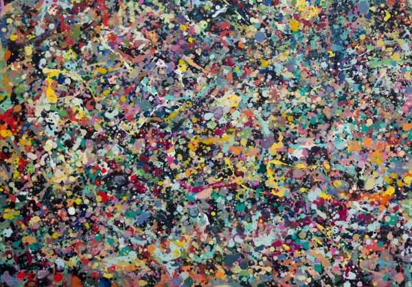 Abstract painting - Celebrities at a party in Greensborough - Detail view 5