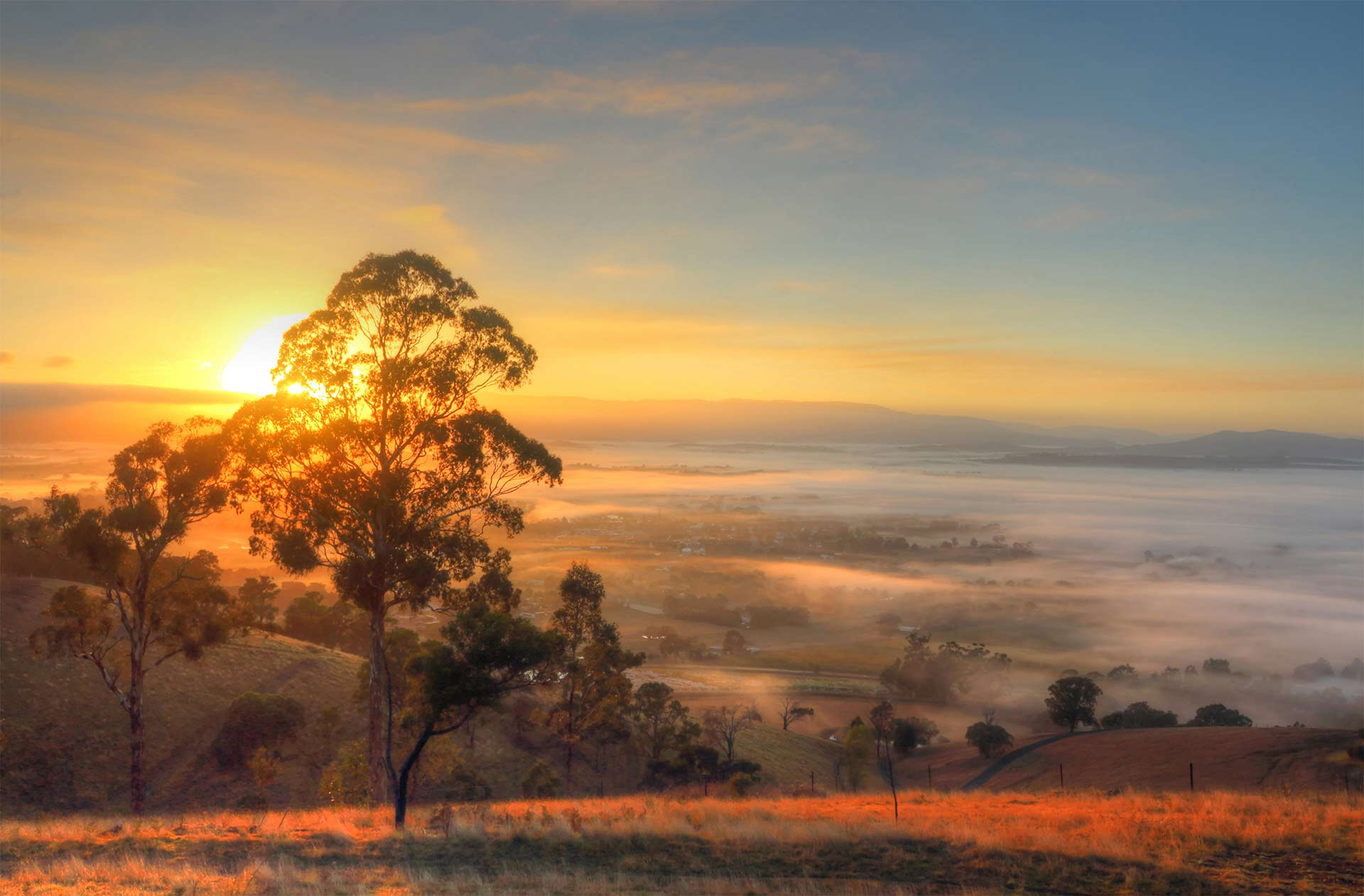 Sunrise over the Yarra Valley - Source image