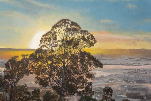 Photorealism painting - Sunrise over the Yarra Valley - 1 - Detail 1