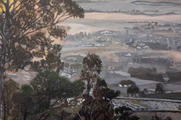 Photorealism painting - Sunrise over the Yarra Valley - 1 - Detail 3